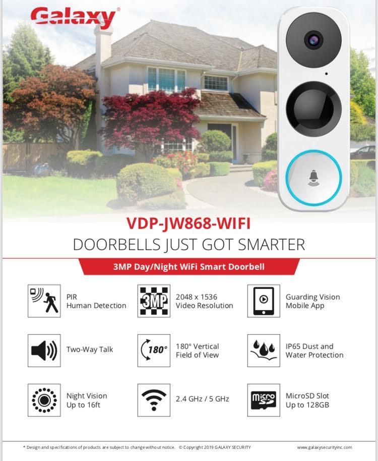 Galaxy doorbell edmonton. smart doorbells edmonton.